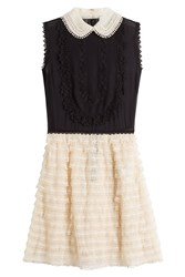 Red Valentino Silk Dress With Tulle Skirt Multicolor