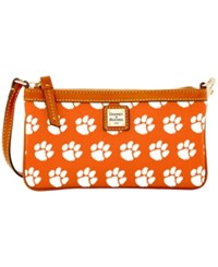 Dooney And Bourke Clemson Tigers Ncaa Large Wristlet Orange
