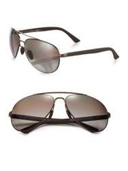 Gucci 63Mm Metal Aviator Sunglasses Dark Brown