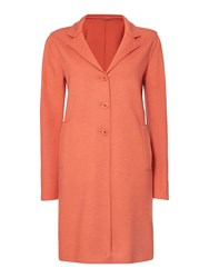 Marella Improbi Double Face Wool Button Up Coat Salmon