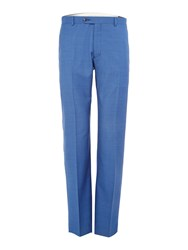 Corsivo Bartolo Mini Texture Suit Trousers Blue