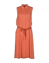 Veronique Branquinho Knee Length Dresses Orange
