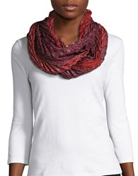 Collection 18 Mystiq Pleated Infinity Scarf Red