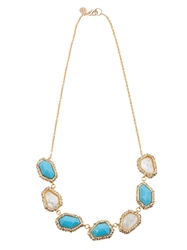 Alexis Bittar Crystal Necklace Yellow And Orange