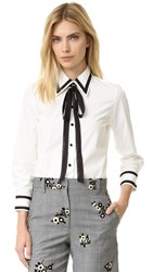 Marc Jacobs Button Down Shirt With Tie White