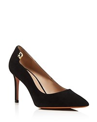 Tory Burch Elizabeth Pointed Toe High Heel Pumps Black