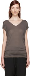 Rick Owens Taupe Jersey Floating T Shirt
