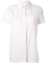 Victoria Beckham Denim Short Sleeve Shirt Pink And Purple