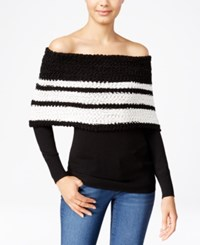 Xoxo Juniors' Off The Shoulder Sweater Black Ivory