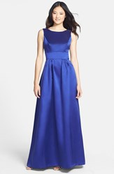 Women's Alfred Sung Bow Back Sateen Twill Gown Electric Blue