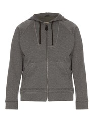 Bottega Veneta Cotton And Wool Blend Hooded Sweatshirt Grey Multi