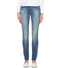 Closed Lizzy Skinny Mid Rise Jeans Mid Blue Worn