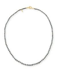 Splendid Company Faceted Round Black Diamond Necklace 18