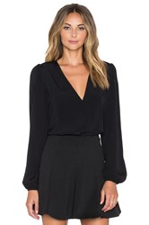 Lovers Friends X Revolve Vision Long Sleeve Bodysuit Black