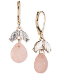 Lonna And Lilly Gold Tone Pink Stone Crystal Drop Earrings