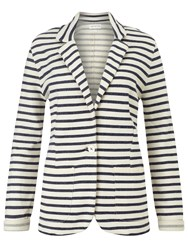 Harris Wilson Magic Stripe Jersey Jacket Marine Ecru