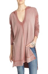 Free People Women's 'Queen Of Hearts' Hooded Tunic Pink