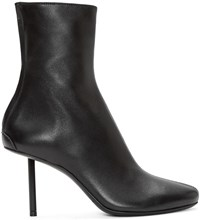 Haider Ackermann Black Leather Stiletto Bronson Boots