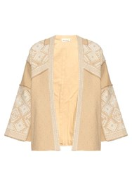 Masscob Millor Embroidered Cotton Jacket Beige