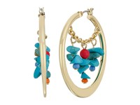 Sam Edelman Beaded Swag Hoop Earrings Multi Earring