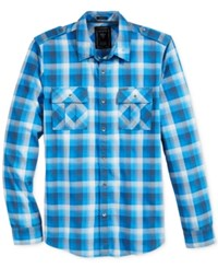 Guess Men's Belmont Plaid Shirt Belmont Plaid Sapphire