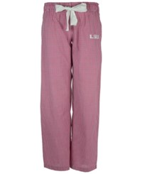Concepts Sport Women's Lsu Tigers Tradition Gingham Sleep Pants Raspberry White