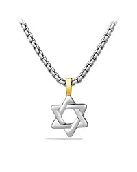 Cable Classics Star Of David With Gold On Chain David Yurman