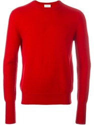 Ballantyne Crew Neck Jumper Red