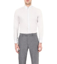 Reiss Albany Slim Fit Cotton Shirt Grey