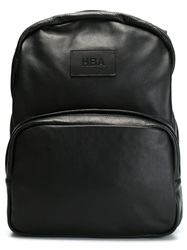 Hood By Air Hooded Backpack Black