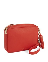 Kenneth Cole Dover Street Leather Crossbody Bag Tigerlily