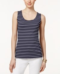 Charter Club Sleeveless Striped Top Only At Macy's Intrepid Blue