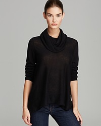 Alice Olivia Sweater Draped Cowl Wool Cashmere Black