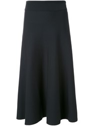 Christophe Lemaire Knitted Flared Skirt Black