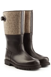 Ludwig Reiter Leather Boots With Felt Brown