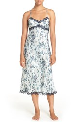 Chelsea 28 Women's Chelsea28 Floral Satin Nightgown Green Hush Botanical Floral