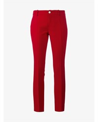Gucci Cropped Wool Trousers Red