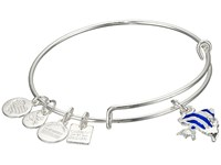 Alex And Ani Charity By Design Angel Fish Bangle Shiny Silver Bracelet Metallic