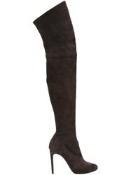 Casadei Thigh High Stiletto Boots Brown