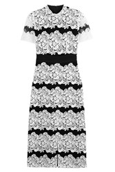 Burberry London Two Tone Cocktail Dress With Lace Multicolor