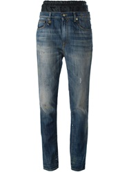 R 13 R13 Tapered Jeans Blue