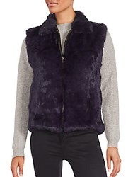 Saks Fifth Avenue Rabbit Fur Vest Navy