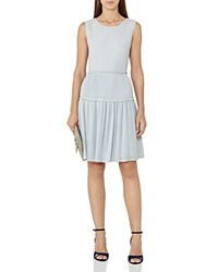 Reiss Justyna Plisse Skirt Dress Arctic