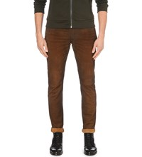 Polo Ralph Lauren Sullivan Suede Trousers Smith Brown