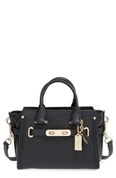'Swagger 20' Leather Satchel Black