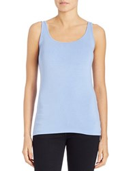 Lord And Taylor Iconic Fit Tank Top Hydrangea