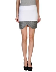 Genny Mini Skirts White