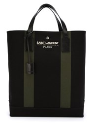 Saint Laurent Logo Print Tote Black