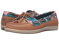 Sperry Firefish Floral Tan True Blue Women's Lace Up Moc Toe Shoes Brown