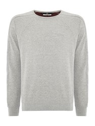 Duck And Cover Men's Falcon Sweat Light Grey Marl